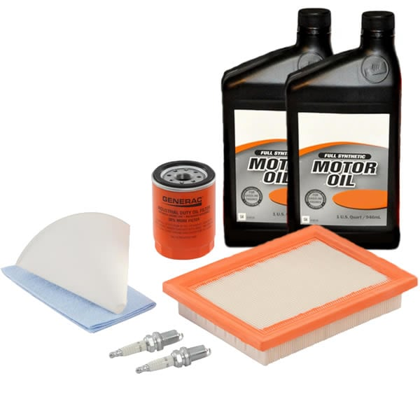 Generac 11KW Maintenance Kit for 2013 Evolution Standbys w/ 10W-30 Synthetic Oil