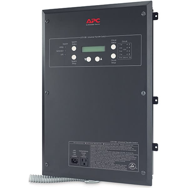 APC 30-Amp (120/240V 10-Circuit) Indoor Manual Transfer Switch