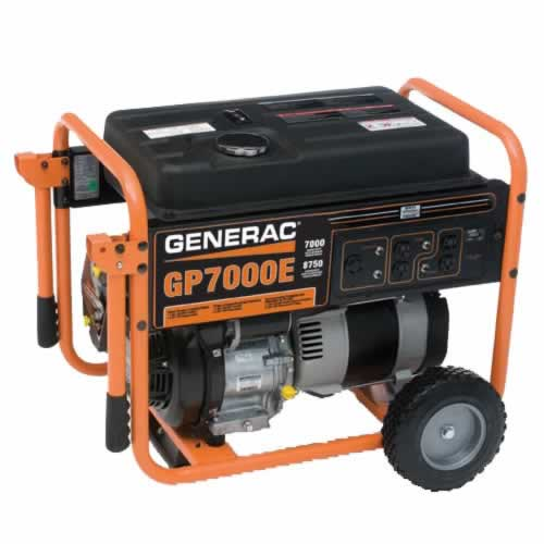 Generac GP7000E - 7000 Watt Electric Start Portable Generator
