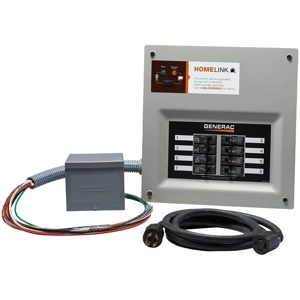 Generac 6853 - 30-Amp HomeLink� Upgradeable Pre-Wired Manual Transfer Switch System