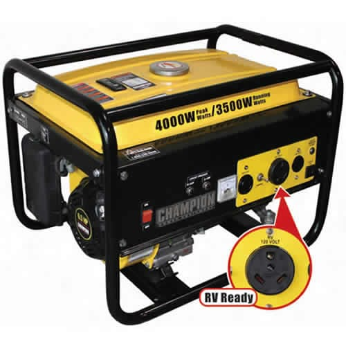 Champion 3500 Watt Generator w/ RV Receptacle