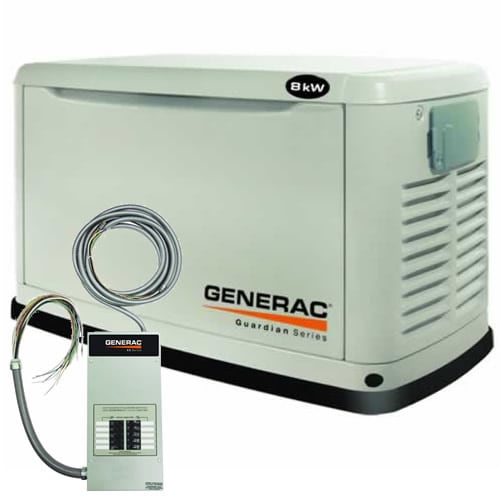 Generac Guardian� 8kW Standby Generator System (100A 10-Circuit Switch)