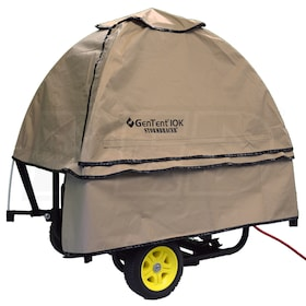 GenTent® 10k Stormbracer® Extreme Rain/Wet Weather Safety Canopy For Portable Generators (Tan)