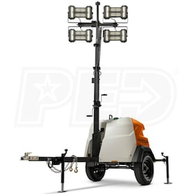 Generac MLT6SMD - 6kW Towable Diesel Vertical Mast LED Light Tower w/ Mitsubishi Engine & Manual Winch
