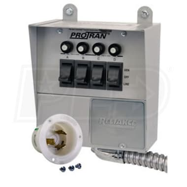 Reliance Controls 30-Amp (120V 4-Circuit) Indoor Transfer Switch