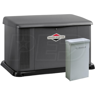 Briggs & Stratton 20kW Aluminum Standby Generator System (200A Service Disconnect + AC Shedding)