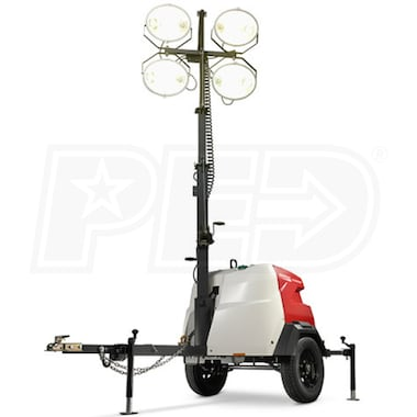 Generac MLT6SM-STD2 - 6kW Towable Diesel Vertical Mast Light Tower w/ Mitsubishi Engine & Electric Winch