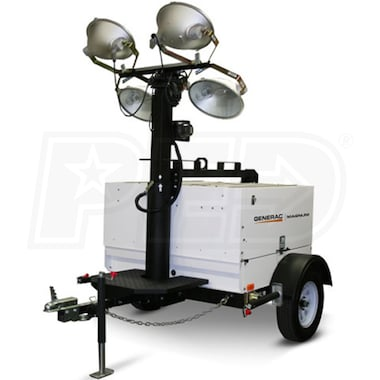 Generac MLT5060MV-STD - 6kW Towable Diesel Vertical Mast Light Tower w/ Mitsubishi Engine & Electric Winch