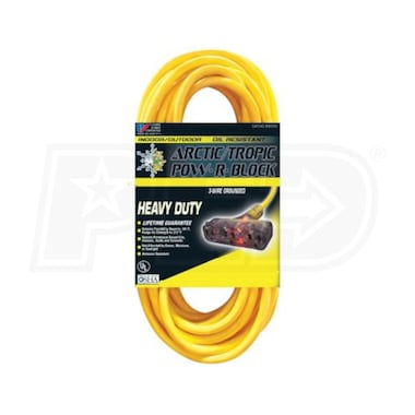 U.S. Wire Arctic/Tropic 50-Foot Extension Cord w/ 3 Outlets (12-Gauge)