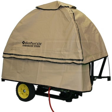 GenTent® 10k Stormbracer® Rain/Wet Weather Safety Canopy For Portable Generators (Tan)
