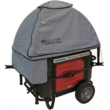 GenTent® 10k Stormbracer® Extreme w/ XKi™ Rain/Wet Weather Safety Canopy For 3000W+ Inverter Generators (Grey)
