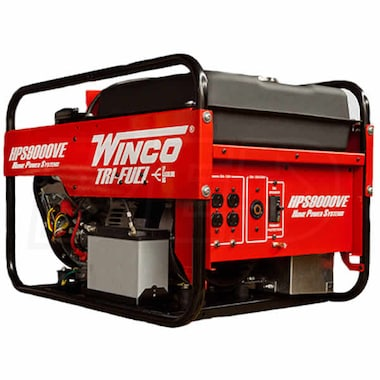 Winco HPS9000VE - 8,000 Watt Tri-Fuel Generator w/ Electric Start B&S Vanguard Engine
