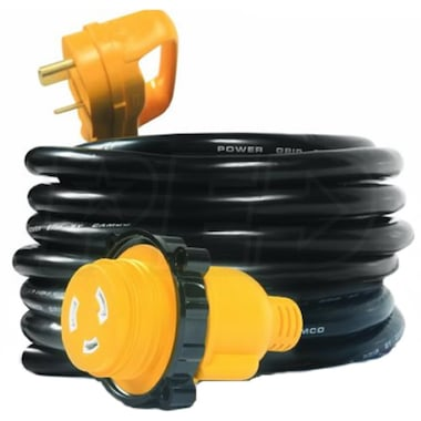 Camco Power Grip Series™ 25-Foot 30-Amp RV Locking Electrical Adapter