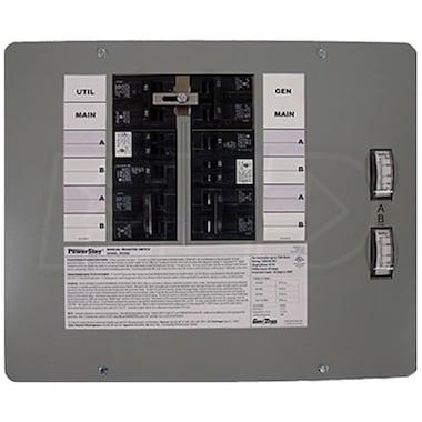 Generac 6378 - 30-Amp (120/240V 10-Circuit) Indoor Manual Transfer Switch