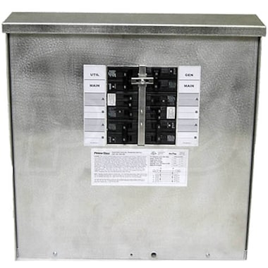 Generac 6379 - 30-Amp (120/240V 10-Circuit) Outdoor Manual Transfer Switch