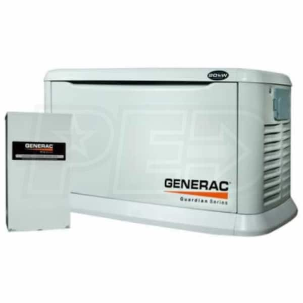 Generac guardian 5875 20kw aluminum standby generator system generac guardian 5875 20kw aluminum standby generator system 200a service disconnect ac shedding sciox Gallery
