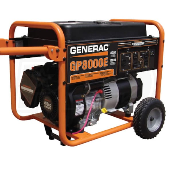 Generac 5681 gp8000e 8000 watt electric start portable for What is found in a generator and motor